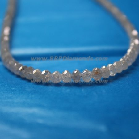 White Faceted Drilled Natural Small Size Diamond Beads