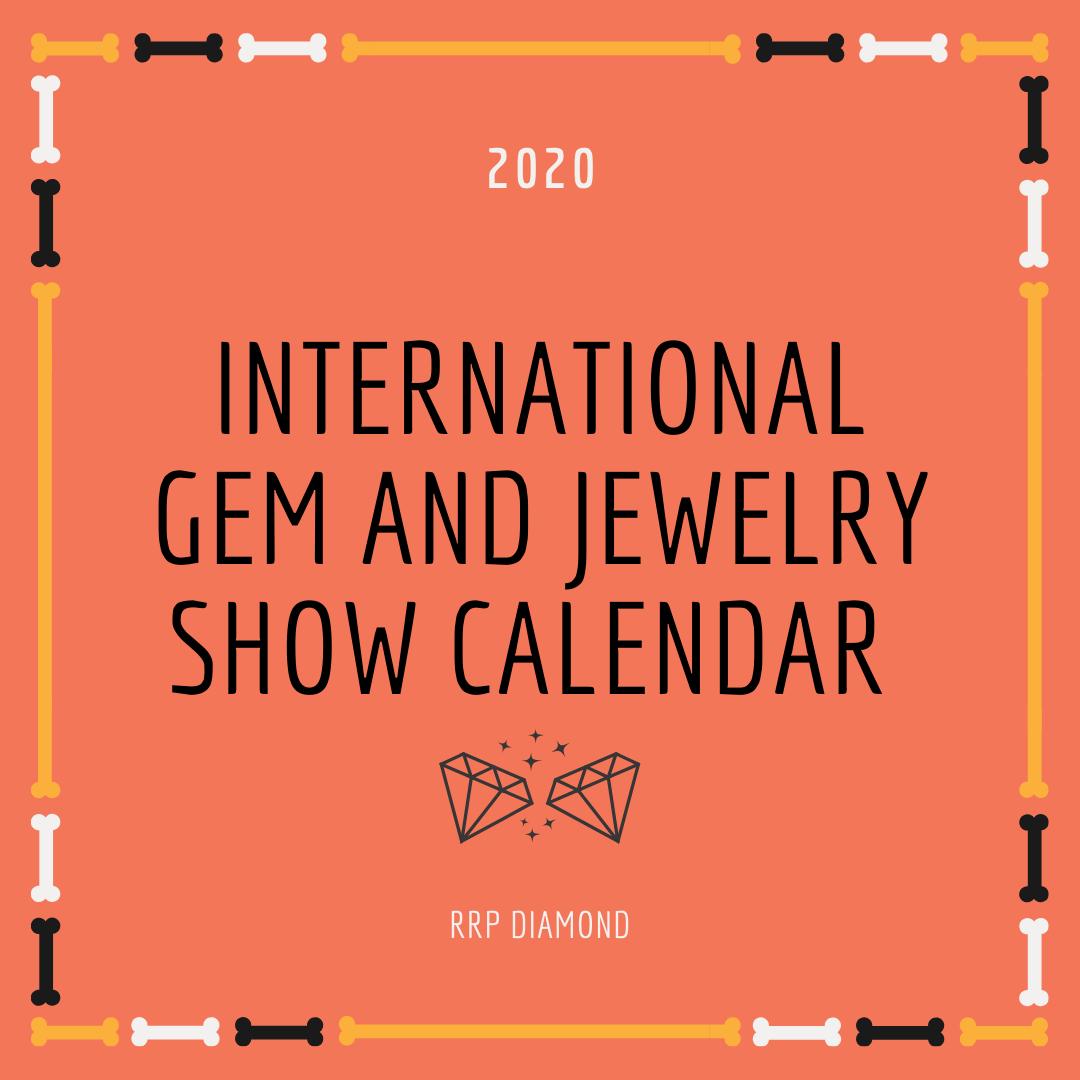 International gem jewelry show calendar