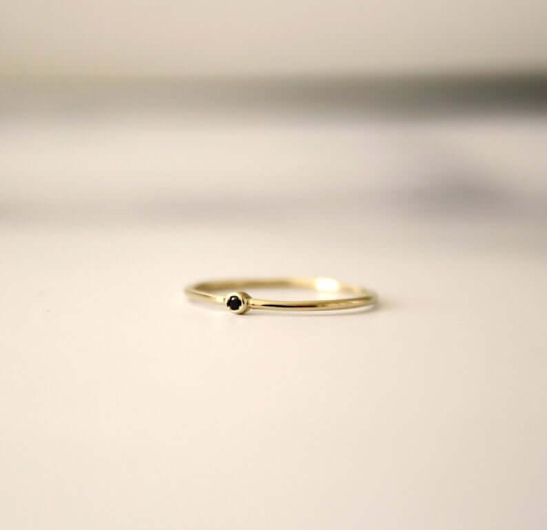 Black gold diamond rings