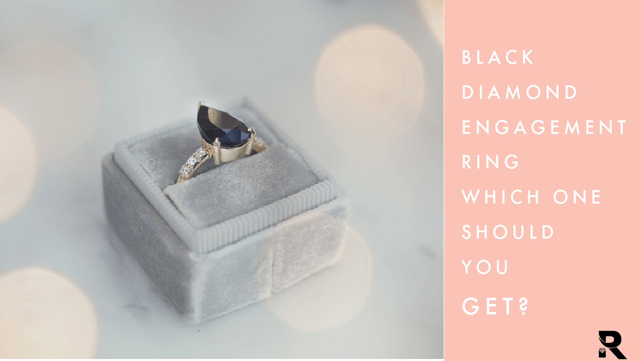 Black engagement diamond rings