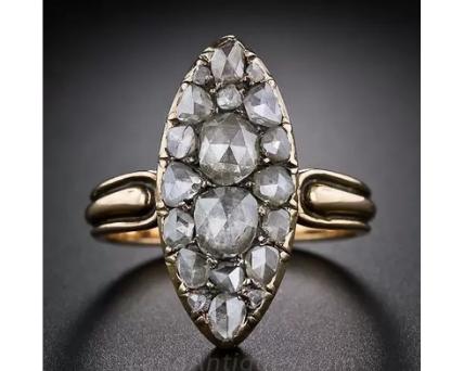 antique rose cut diamonds