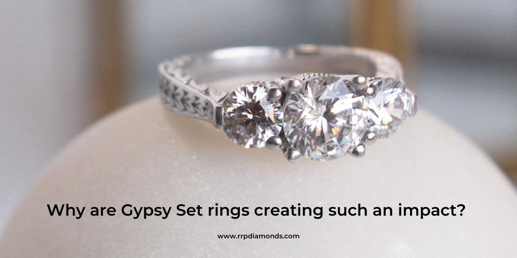 gypsy diamond ring