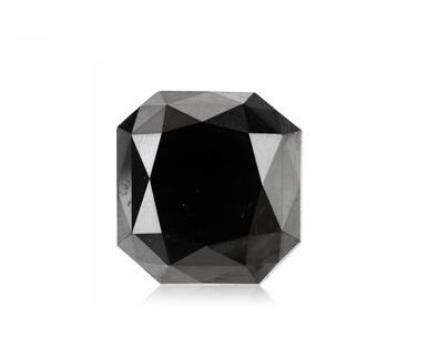 Asscher Cut Shape Black Diamond