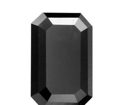 Baguette Shape Black Diamond