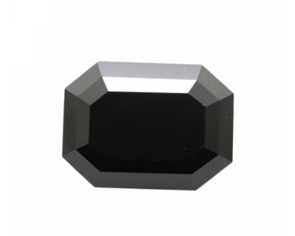 Emerald Cut Shape Black Diamond