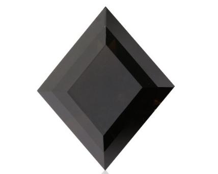 Kite Shape Black Rustic Diamond