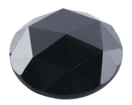 Rose Cut Shape Black Diamond